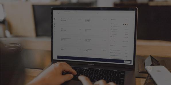 accounts payable dashboard on computer screen
